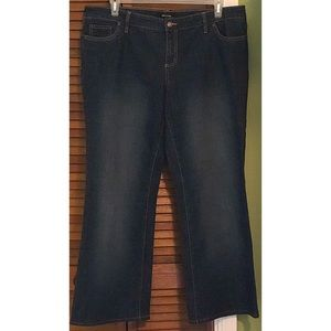 Daisy Fuentes midnight wash bootcut Jeans